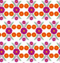 Classic vector wallpaper seamless vintage flower pattern background Royalty Free Stock Photo