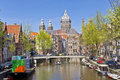Classic view of Amsterdam Royalty Free Stock Photos