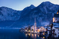 Classic View of Hallstatt Village, Austria Royalty Free Stock Photo