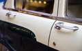 Classic vintage car close up view of a Royalty Free Stock Images
