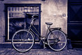 Classic vintage retro city bicycle Royalty Free Stock Photos