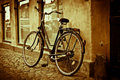 Classic vintage retro city bicycle Royalty Free Stock Images