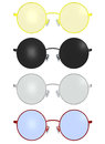 Classic Vintage Round Spectacles Glass Frame Illustration