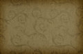 Classic wallpaper seamless vintage pattern on brown background Royalty Free Stock Photo