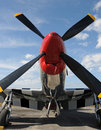 Classic wartime fighter plane Royalty Free Stock Photo
