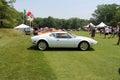 Classic white italian sports car Royalty Free Stock Photo