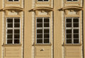 Classic windows and facade of building in Prague Castle Royalty Free Stock Photo
