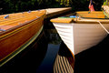 Classic Wood Boats Docked Royalty Free Stock Photo