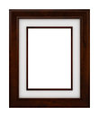 Classic wooden frame d isolated Royalty Free Stock Photography
