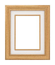 Classic wooden frame d isolated Stock Image
