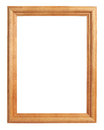 Classic wooden picture frame isolated on white with clipping path Stock Image