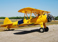Classic Yellow Aircraft Royalty Free Stock Images
