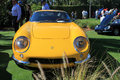 Classic yellow Ferrari sports car front view Royalty Free Stock Photo