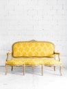 Classic Yellow Sofa Royalty Free Stock Photo