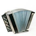 Classical accordion isolated on white background Royalty Free Stock Photo