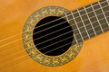 Classical acoustic guitar Stock Images