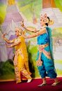 Classical Burmese dance Royalty Free Stock Images
