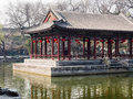 Classical Chinese garden with pavilion Royalty Free Stock Photo