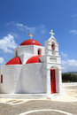 Classical church of mykonos island in greece Stock Image