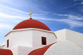 Classical church of mykonos island in greece Royalty Free Stock Image