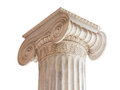 Classical Column Capital on white Stock Images