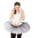 Classical dancer expression white background Stock Image