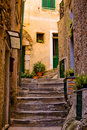 Classical European back alley Royalty Free Stock Photo