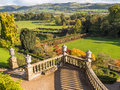 Classical garden landscape terrraces and ornate gardens in a style at powis castle welshpool wales uk Royalty Free Stock Photo