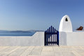 Classical Greek architecture of the streets in Oia Royalty Free Stock Image