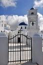 Classical greek church on santorini island Royalty Free Stock Photo