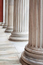 Classical Greek columns in a row Royalty Free Stock Photo