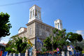 A classical greek orthodox church from the outside Royalty Free Stock Photos