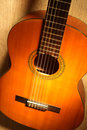 Classical guitar close up Stock Photos