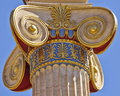 Classical ionic column capital detail Stock Photo