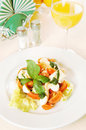 Classical Italian salad on the plate Royalty Free Stock Photography