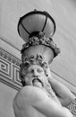 Classical lamp bearer statue outside of St Georges Hall in Liverpool Royalty Free Stock Photo