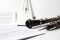 Classical music instrument oboe
