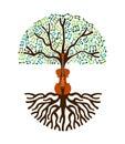 Classical music tree nature concept illustration