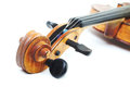 Classical music violin on white orchestral musical instruments Stock Image