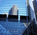 Classical New York  - reflections in skyscrapers Royalty Free Stock Image