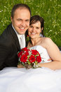 A classical newly wed couple Stock Image