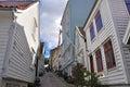 Classical norwegian wooden houses of Bergen, scandinavia Royalty Free Stock Photo