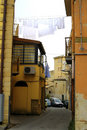 Classical old Italy ,Sicily, street in  Enna city Royalty Free Stock Photo