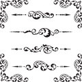 Classical ornate set on white Royalty Free Stock Photography