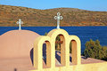 Classical orthodox Greek church(Crete,Greece) Stock Images