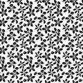 Classical seamless floral background in vector Royalty Free Stock Photo