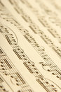 Classical sheet music Royalty Free Stock Images
