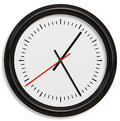 Classical simple clock face with arrows in white backgrounds background Royalty Free Stock Photo