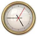 Classical simple clock face with arrows in white backgrounds background Royalty Free Stock Photography