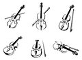 Classical violins instruments Stock Photos